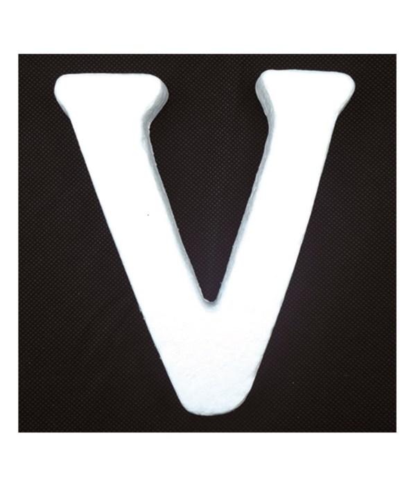 """6"""" foam letter V 6/120's"""