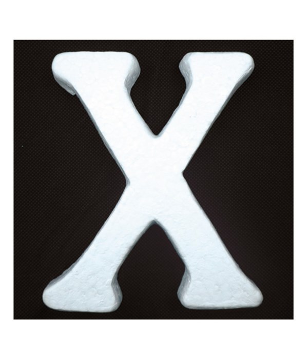 """6"""" foam letter X 6/120's"""
