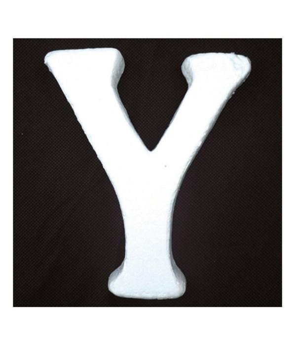 """6"""" foam letter Y 6/120's"""