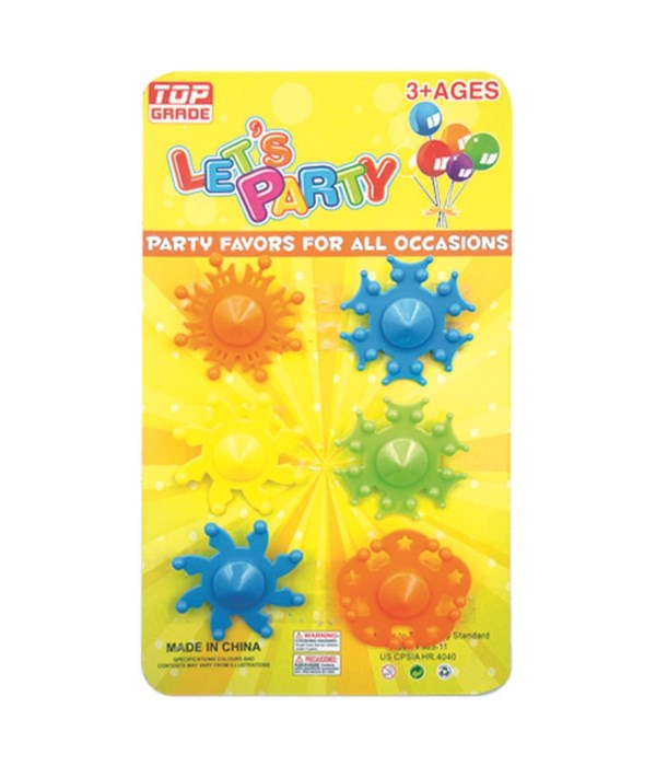 party favor 6pc spinning tops