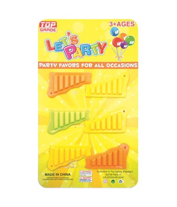 party favor 6pc harmonicas