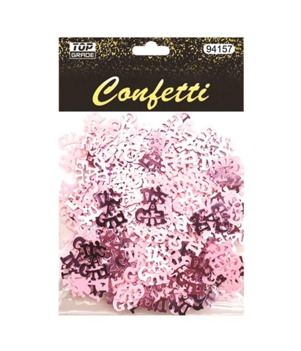 """confetti """"it's a girl"""" 12/288s"""