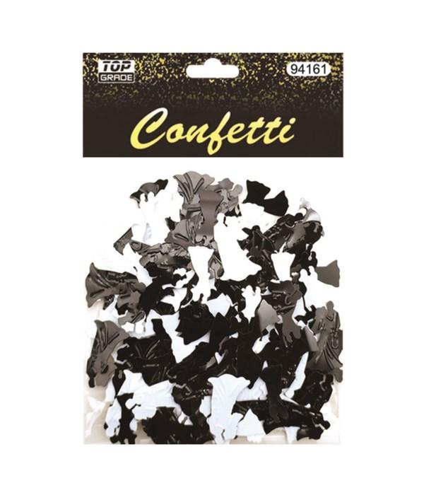 confetti wedding blk/wht12/288
