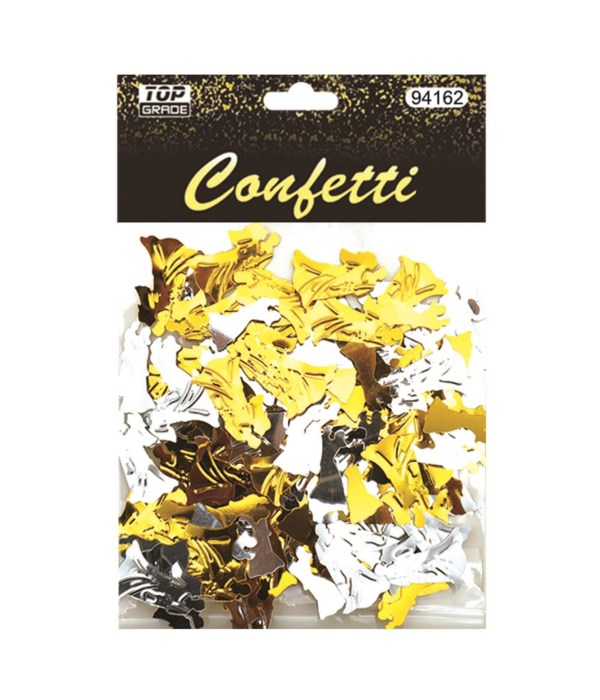 confetti wed gold+sil 12/288s