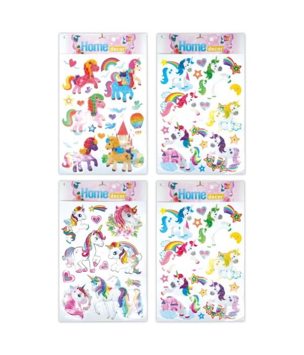 3D stickers unicorn 12/300s