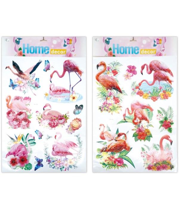 3D sticker flamingo 12/300s