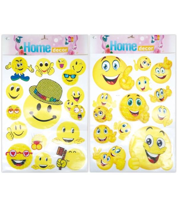 3D sticker smile face 12/300s
