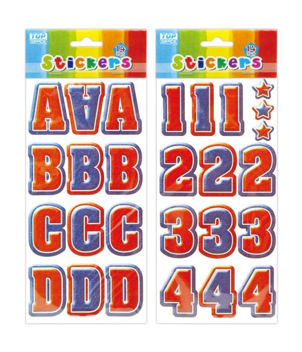 letter&number sticker 12/300s