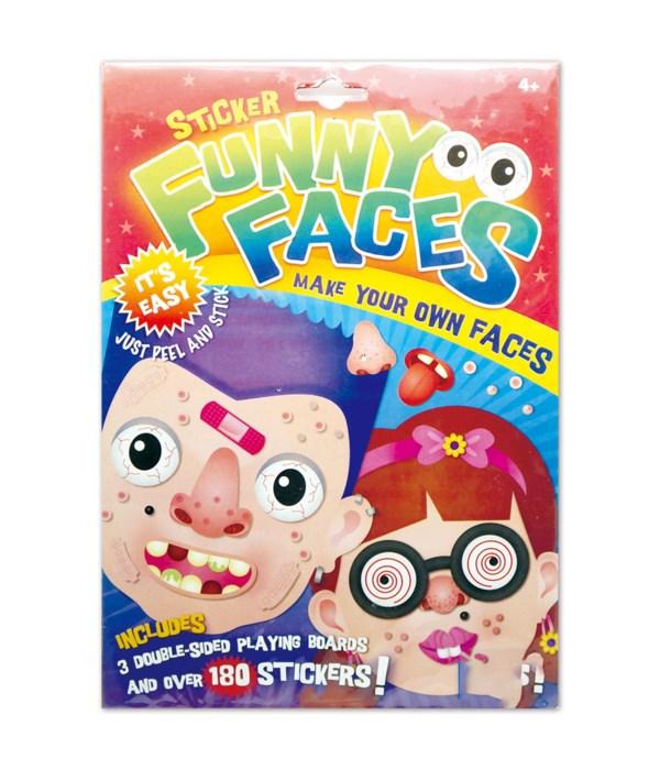 funny face sticker 12/300s