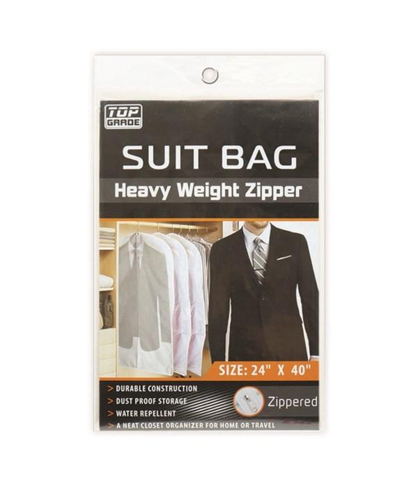 """suit bag clear 24x40"""" 12/72s"""