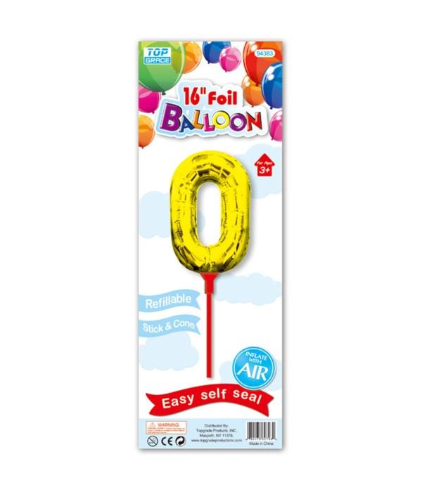 "16"" gold foil balloon #0"