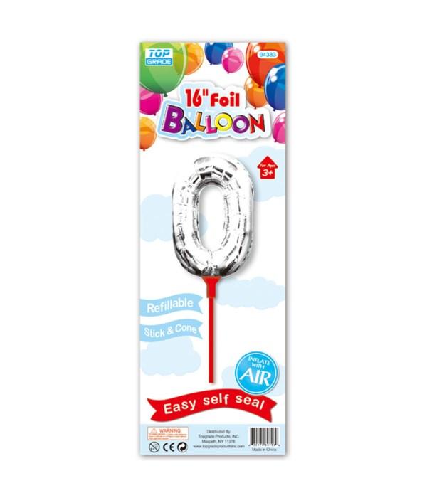 """16"""" silver foil balloon #0"""