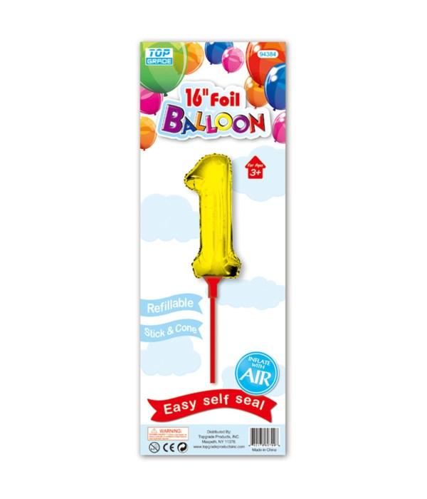 "16"" gold foil balloon #1"
