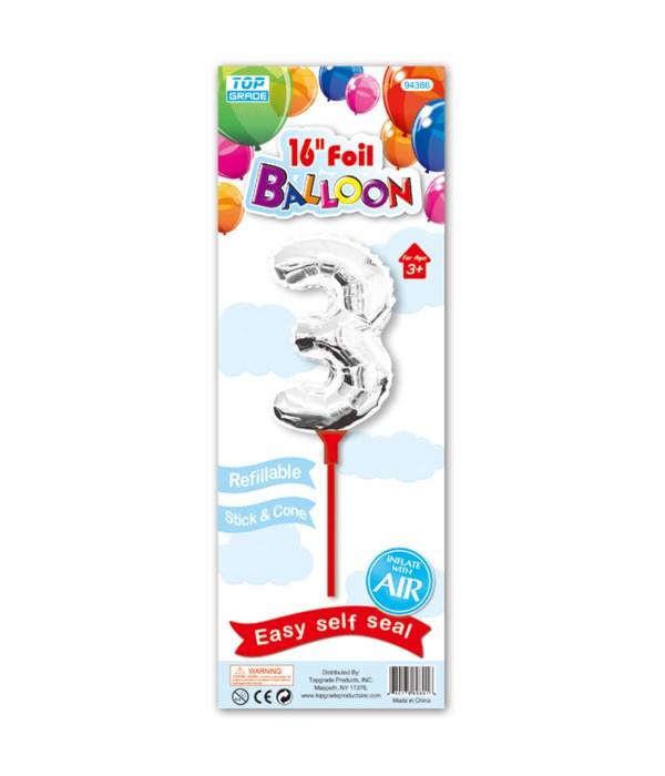 """16"""" silver foil balloon #3"""