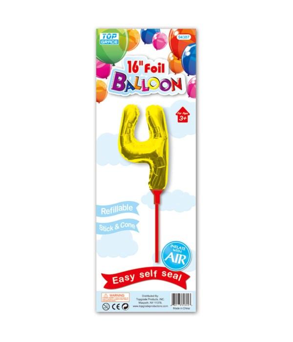 "16"" gold foil balloon #4"