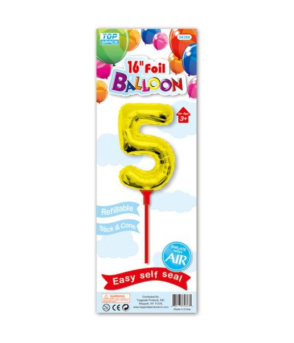 "16"" gold foil balloon #5"