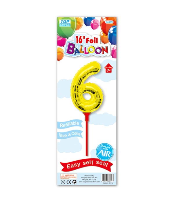 "16"" gold foil balloon #6"