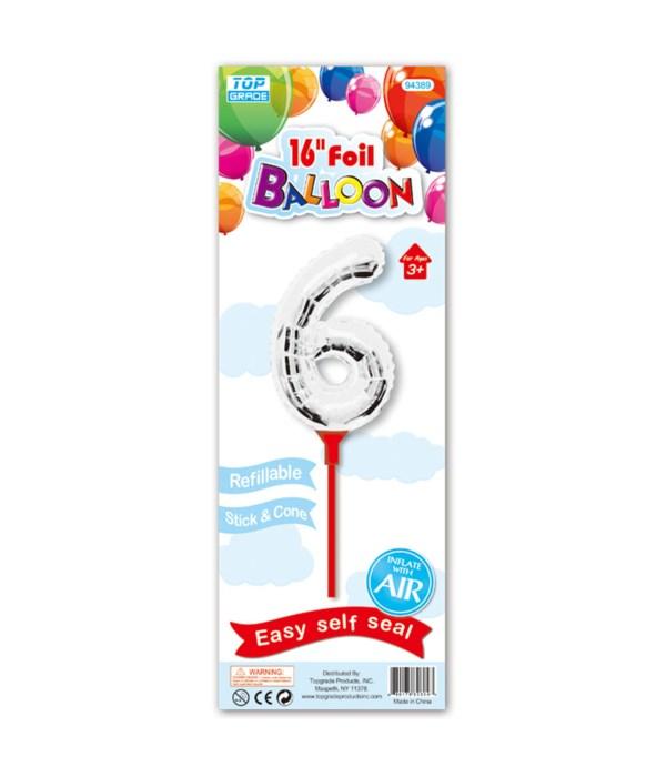 """16"""" silver foil balloon #6"""