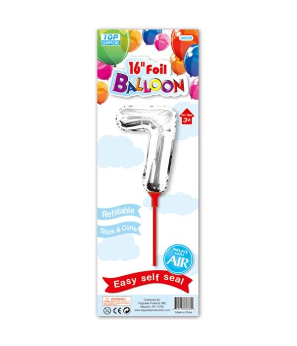 """16"""" silver foil balloon #7"""