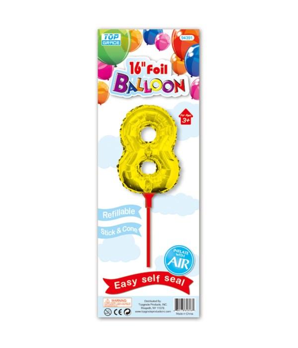 "16"" gold foil balloon #8"