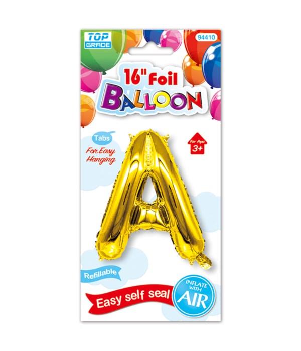 "16""foil balloon gold A 12/600s"