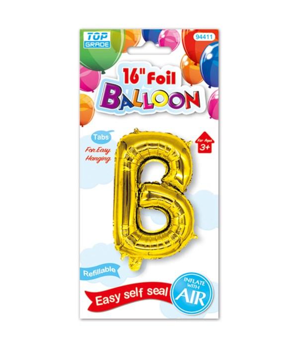 "16""foil balloon gold B 12/600s"