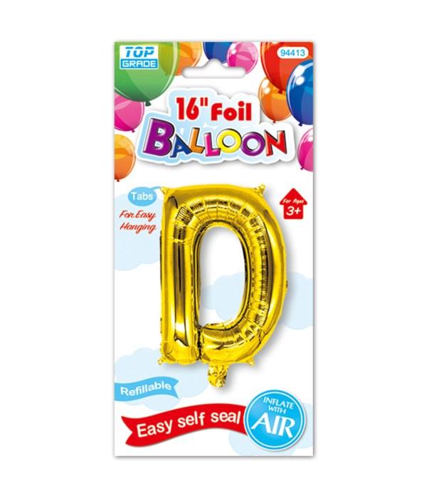 """16""""foil balloon gold D 12/600s"""