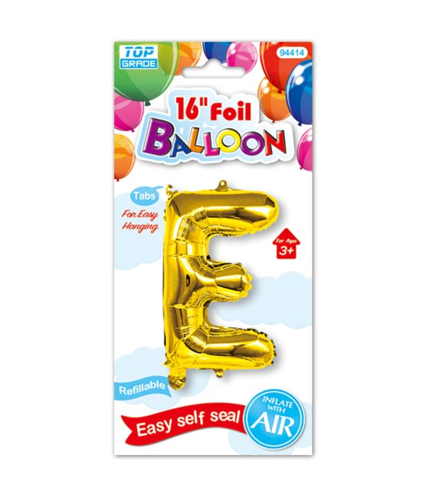 """16""""foil balloon gold E 12/600s"""