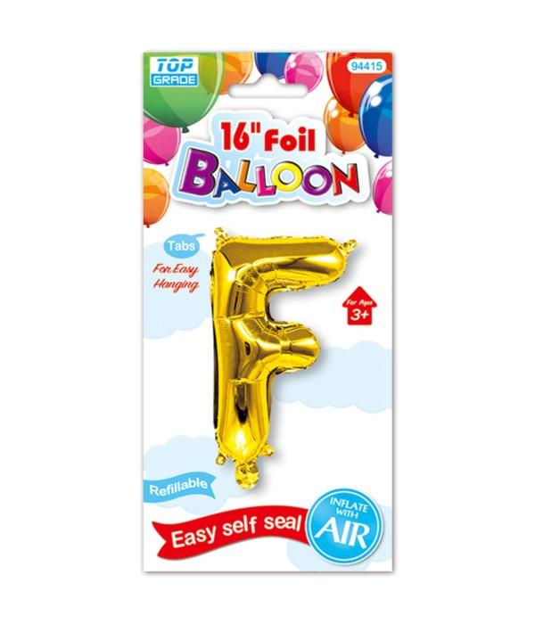 "16""foil balloon gold F 12/600s"