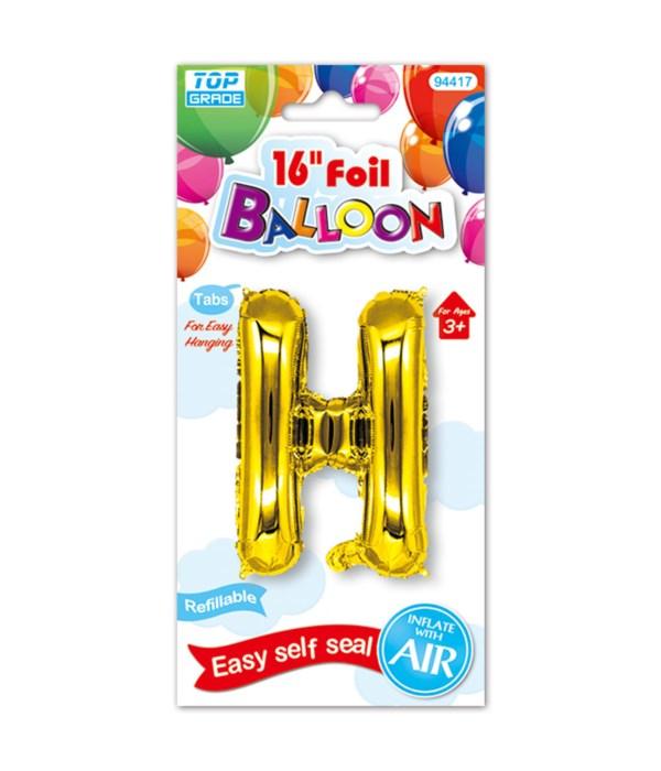"16""foil balloon gold H 12/600s"