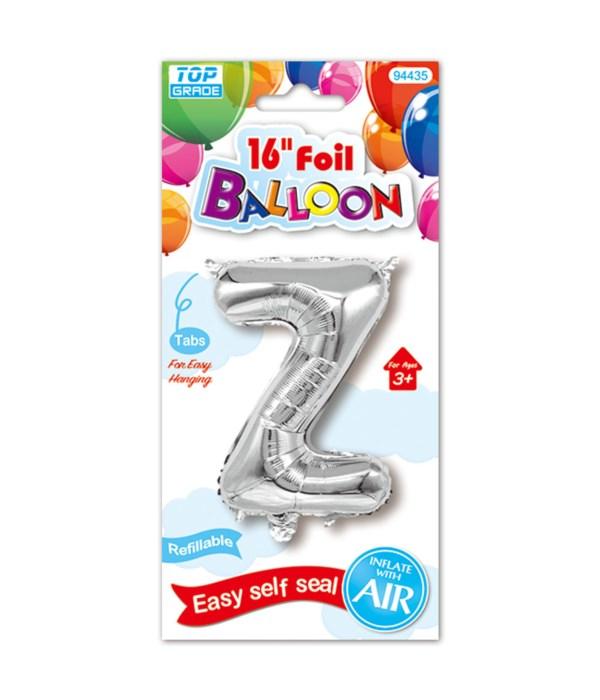 "16""foil balloon silv Z 12/600s"