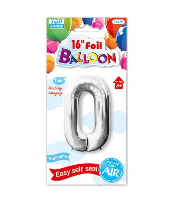 """16""""foil balloon silv #0 12/600"""
