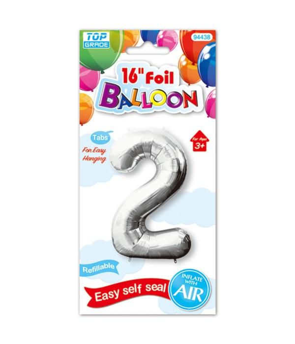 """16""""foil balloon silv #2 12/600"""