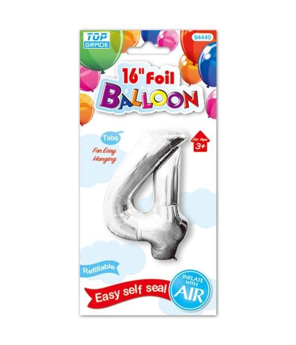 """16""""foil balloon silv #4 12/600"""