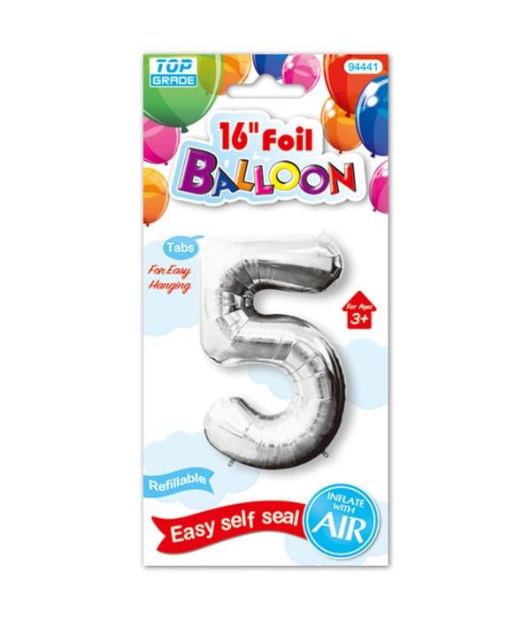 """16""""foil balloon silv #5 12/600"""