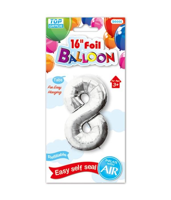 """16""""foil balloon silv #8 12/600"""