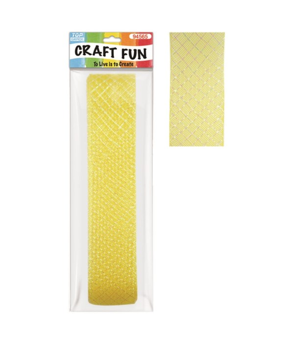 mesh ribbon yellow 12/96