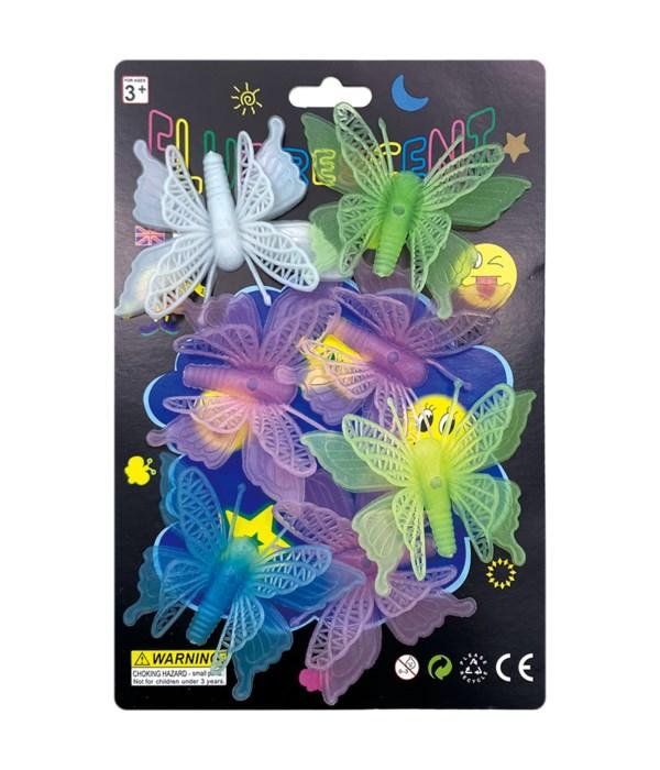 glow sticker butterfly 24/144s