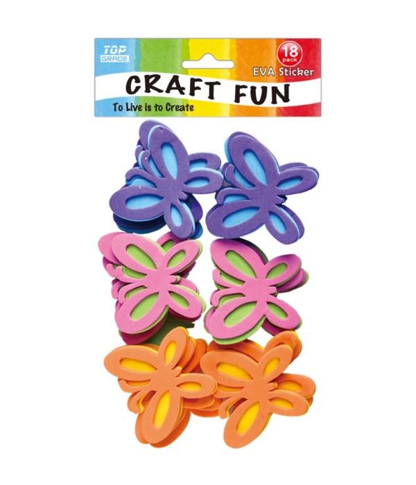 EVA sticker butterfly 12/144s