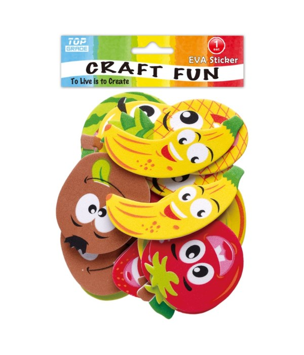 foam sticker fruit 12/144s