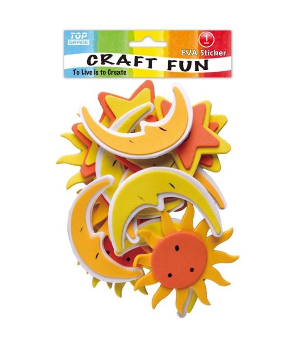 foam sticker sun+moon 12/144s