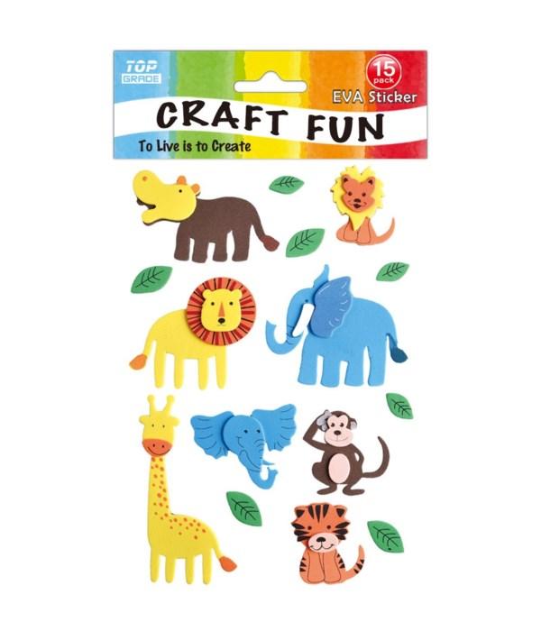 EVA sticker wild animal 12/144