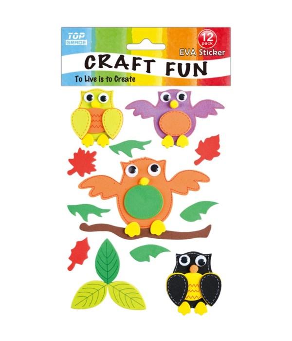 EVA sticker owl 12/144s