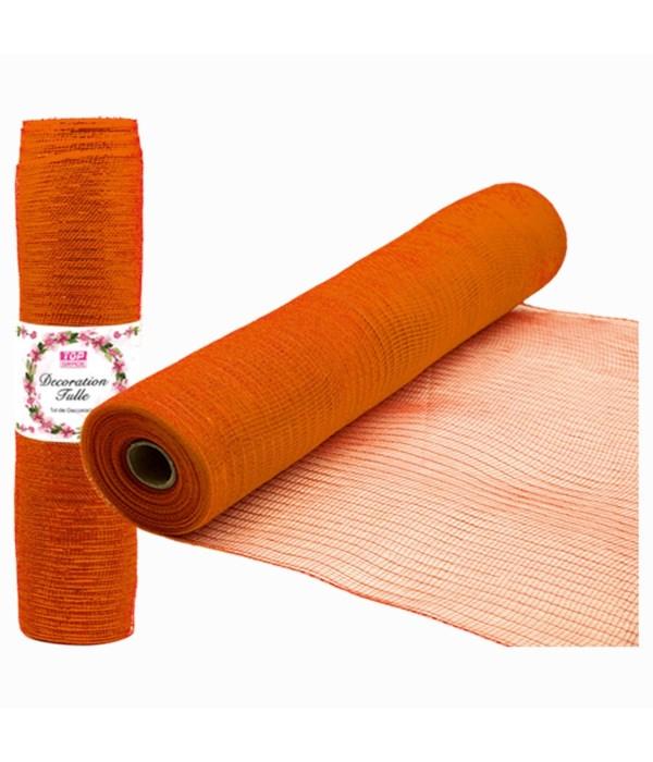 tulle fabric roll orange 12/72