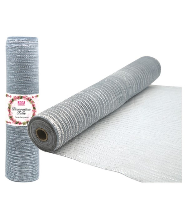 tulle roll silver 8/48s