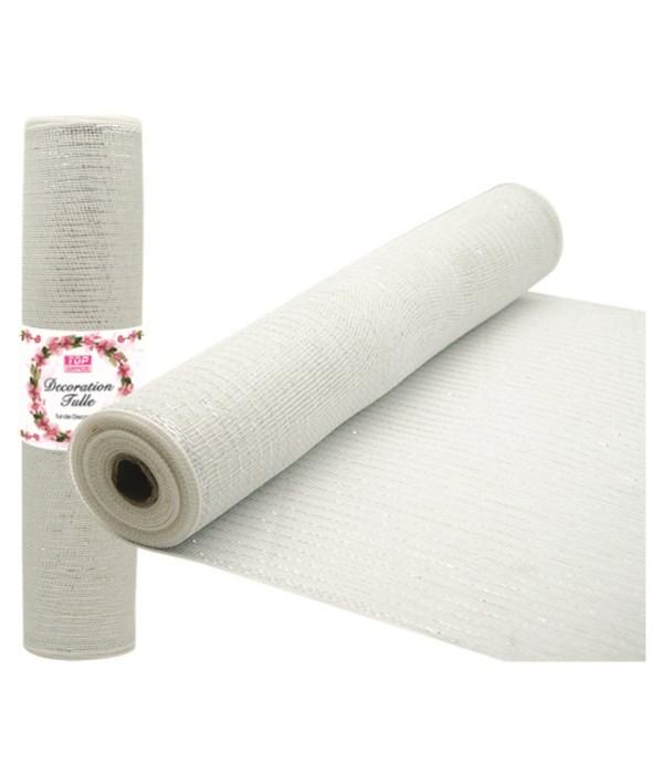 tulle roll white 8/48s
