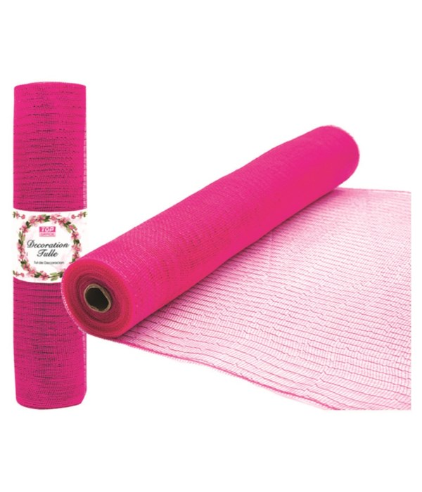 tulle roll hot pink 8/48s