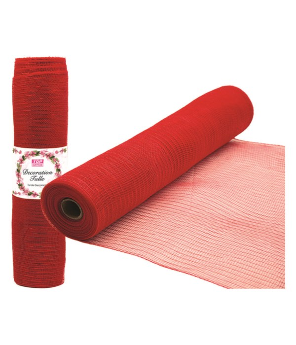 tulle fabric roll red 12/72
