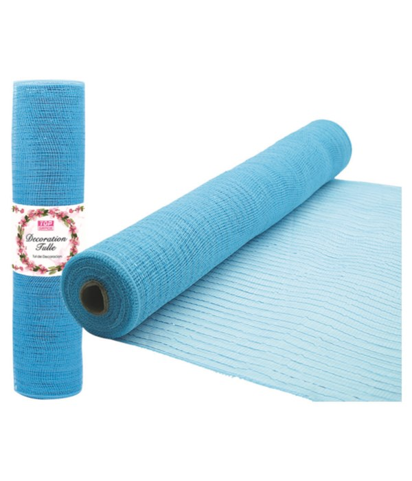 tulle fabric roll bb-blue12/72
