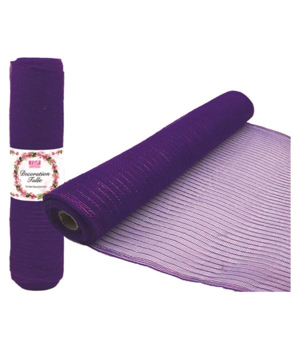 tulle fabric roll purple12/72s